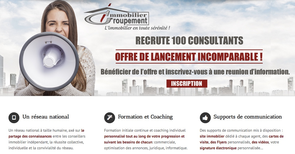 recrutement immobilier offres d 39 emploi mandataire immobilier groupement immobilier. Black Bedroom Furniture Sets. Home Design Ideas
